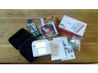 Nintendo 2ds in red white with 10 games bundle, boxed Inc instructions pokemon
