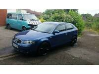 Audi a3 2 ltr tdi sport 6 speed ful s3 leather interior swaps or sale