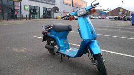 Hipster Honda Harmony Delux 50cc (Mot 04 19) Rare Moped + 2 Helmets
