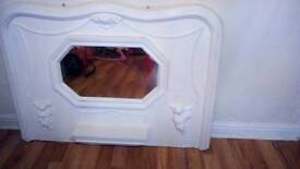Fireplace over mantel