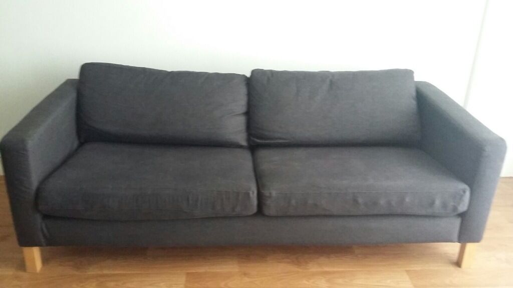 Ikea Karlstad Sofa Large Two Seater Denim In West
