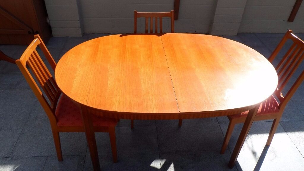 Extending Dining table and 3 chairs