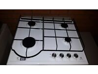 Electrolux white gas hob- built in-new