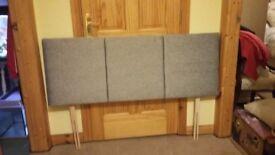 Grey headboard