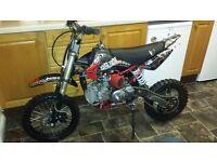 160cc demon x pitbike/ pit bike dirt bike motocross scrambler stomp