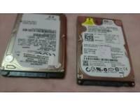 2x sata 2.5 hard drives
