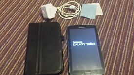 Samsung Galaxy Tab3 7inch Android Tablet, great condition. Comes with case and genuine charger.