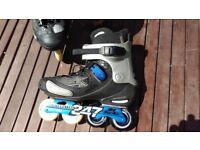 Salomon FSK inline skates Crossmax S-Lab, Size 12, & Knee Wrist Pads