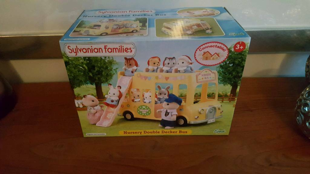 Sylvanian family's nursery double decker bus (new & unopened)