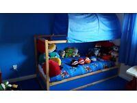 Kids ikea reversable bed