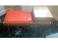 Vintage Telepone Table with Padded Seat......In Great Condition