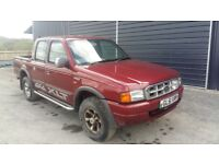 breaking red ford ranger double cab manual 4x4 parts spares