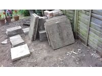 Paving slabs Variety 600*600 (10), 600*300 (6), 220*220 (5), 450*220 (4) plus 8 others