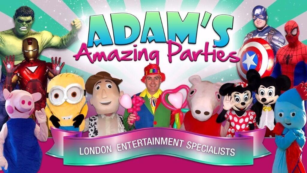 MAGICIAN CLOWN Children's Party Entertainer SPIDERMAN Mickey Minnie MASCOT HIRE MASCOTS KIDS ROMFORD