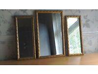 Vintage mirrors set of 3
