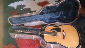 Vintage VE1500N Electro Acoustic Guitar.. Solid German spruce top and Solid Rosewood body+Case .