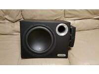 CAR ACTIVE SUBWOOFER IN PHASE 1400 WATT 12 INCH ENCLOSURE WITH BUILT IN AMPLIFIER SUB WOOFER AMP