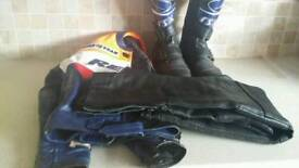 Motorbike leathers for ages 8-10 years