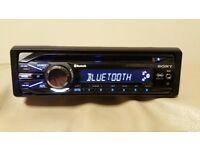 CAR HEAD UNIT SONY XPLOD CD MP3 PLAYER WITH BLUETOOTH AUX RCA 4x 52 AMPLIFIER AMP STEREO RADIO BT