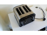 Black 4 Slice Toaster
