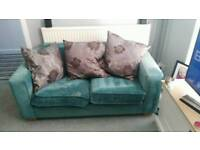 Teal 3 + 2 seater sofa