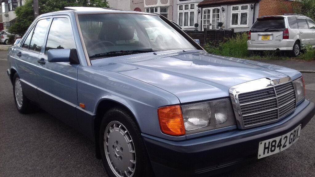 Mercedes 190e 2 o automatic 1991 model blue 190 e petrol for Mercedes benz 190e 1991