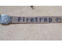 Real Firetrap belts for men - canvas