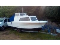 Cabin boat river sea fishing 20ft 60hp mariner outboard snipe trailer may px ktm or jet ski