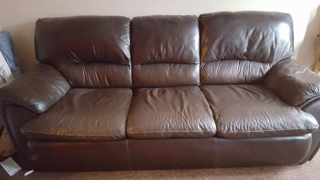 brown laether sofas