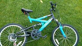 "Childs 20"" wheel. Full Suspension Mountain Bike"