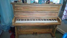 shabby chic upright piano.