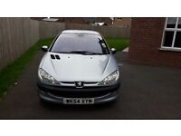 Silver Peugeot 206 for sale