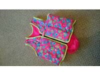 Speedo girls swim vest/jacket, age 5-6