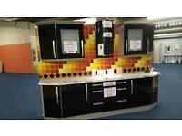 Ex display gloss black kitchen