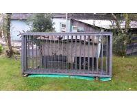 Galvanised metal fence panels / railings/ gates