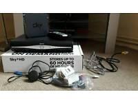 Sky + HD Box + Remote control +Fibre Router