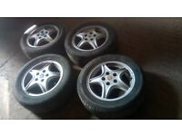 Vauxhall 5 stud wheels and tyres