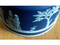 Wedgewood Jasper Ware Teapot and sugar bowl
