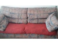 2 Sofas free to collector 1 x 3 seater and 1 x 2 seater from Pet and smoke free home.