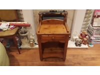 Vintage Retro Style 1 Drawer Pine Country Cottage Style Bedside Table Hall Table Side Table