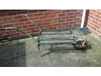 Fising platform and wheelbarrow