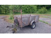 Trailer with fold down tailgate