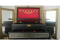 Stunning black and red felt jewellery box