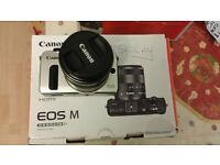 Canon EOS M Compact System Camera Black 18MP, Includes Speedlite 90EX & EF-M 18-55mm 3.0inch Touch