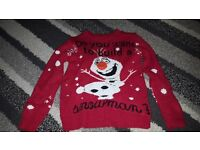 christmas jumper age 3-4 years