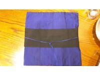Kimono Inspired Blue Cushion Cover