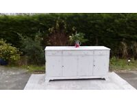Beautiful, Vintage Sideboard. Shabby Chic, Old White.