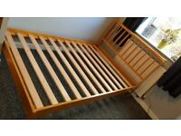 4ft Small Double (Queen sized) Bed Frame - Wooden, Barely Used