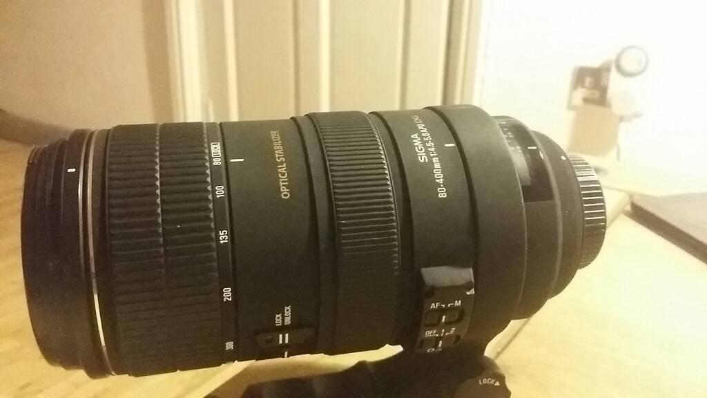 Sigma 80-400mm nikon lens