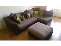 ***NEW PRICE*** Great condition, brown DFS Corner Group Sofa with all cushions